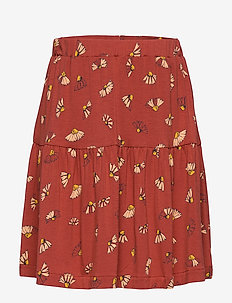 Fennel Skirt - BURNT BRICK, AOP CAMOMILE
