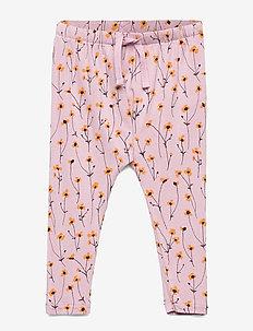 Faura Pants - bukser - dawn pink, aop buttercup s