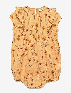 Flanna Jumpsuit - golden apricot, aop buttercup
