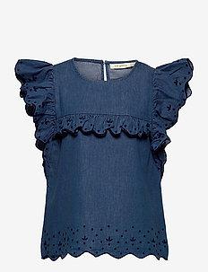 Florin Top - chemisiers & tuniques - denim blue