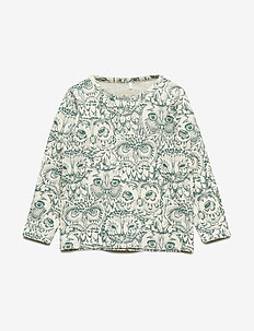 Baby Bella T-shirt - CREAM, AOP OWL GREEN
