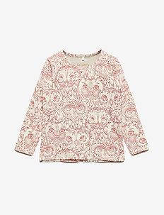 Baby Bella T-shirt - CREAM, AOP OWL MAHOGANY