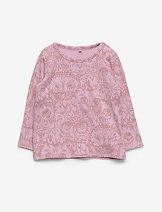Baby Bella T-shirt - long-sleeved t-shirts - mauve shadows, aop owl lavender