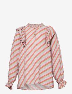 Hollyn Shirt - blusen & tuniken - dewkist, aop candystripe