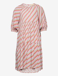 Honesty Dress - kleider - dewkist, aop candystripe