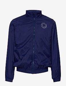 Dixon Jacket - DRESS BLUE, CREAM LOGO