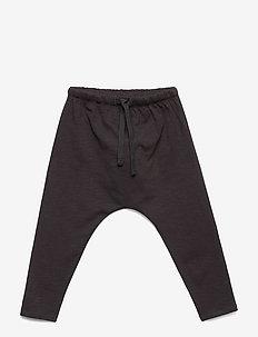 Hailey Pants - trousers - jet black, soft owl