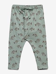 Hailey Pants - JADEITE, AOP FISH