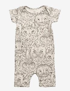 Owen Body - krótki rękaw - cream, aop owl