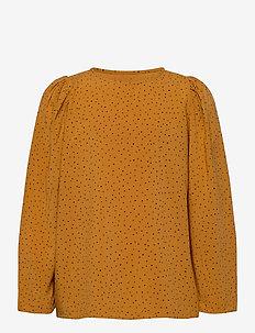 Gaelle Shirt - blouses & tunieken - inca gold, aop trio dotties
