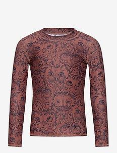 Astin Sun Shirt - uv tops - burlwood, aop owl