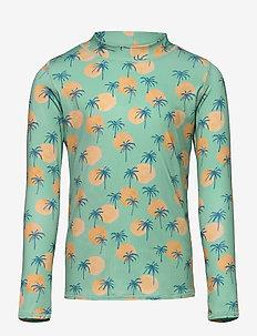 Astin Sun Shirt - uv-clothing - granite green, aop tropical