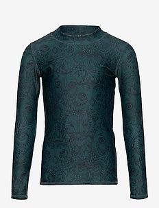 Astin Sun Shirt - uv tops - orion blue, aop owl