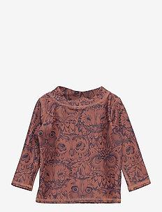 Baby Astin Sun Shirt - koszulki - burlwood, aop owl