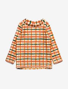 Baby Astin Sun Shirt - WINTER WHEAT, AOP CHECK