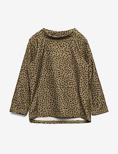 Baby Astin Sun Shirt - OIL GREEN, AOP LEOSPOT