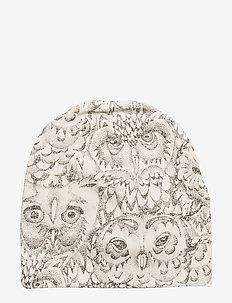 Beanie - CREAM, AOP OWL