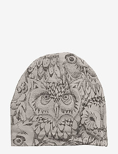 Beanie - kapelusze - drizzle, aop owl