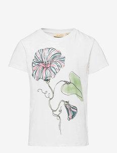 Bass T-shirt - kortærmede - snow white, primrose