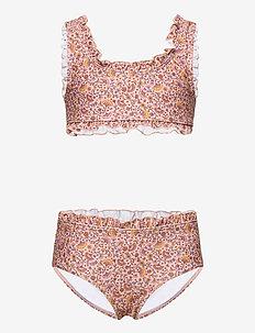 Heloise Bikini - bikinis - misty rose, aop flower swim