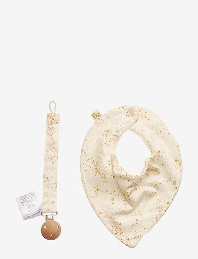 Baby Pack Box - slabbertjes - fluffy sky, aop mini splash cream
