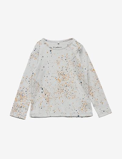Baby Bella T-shirt - langärmelig - ocean grey, aop mini splash blue