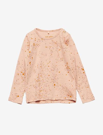 Baby Bella T-shirt - langärmelig - peach perfect, aop mini splash rose