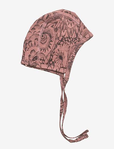 Hattie - hatte og handsker - burlwood, aop owl