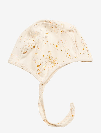 Hattie - hatte og handsker - fluffy sky, aop mini splash cream