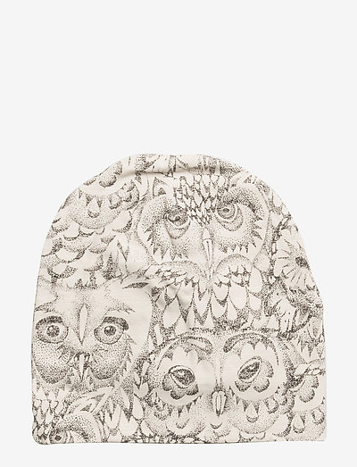 Beanie - hatte og handsker - cream, aop owl