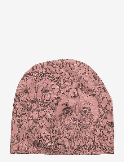 Beanie - hatte og handsker - burlwood, aop owl