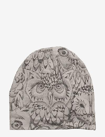 Beanie - hatte og handsker - drizzle, aop owl