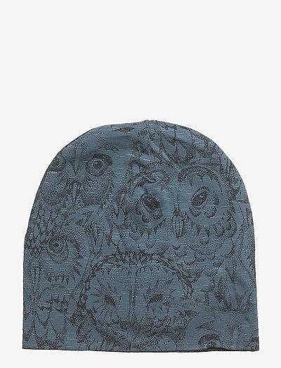 Beanie - hatte og handsker - orion blue, aop owl