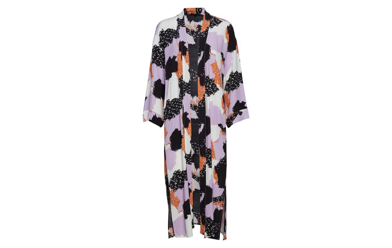 Soft Kimono Équipement Touch 100 Lavendula Rebels Long Print Viscose rqxrFnH76