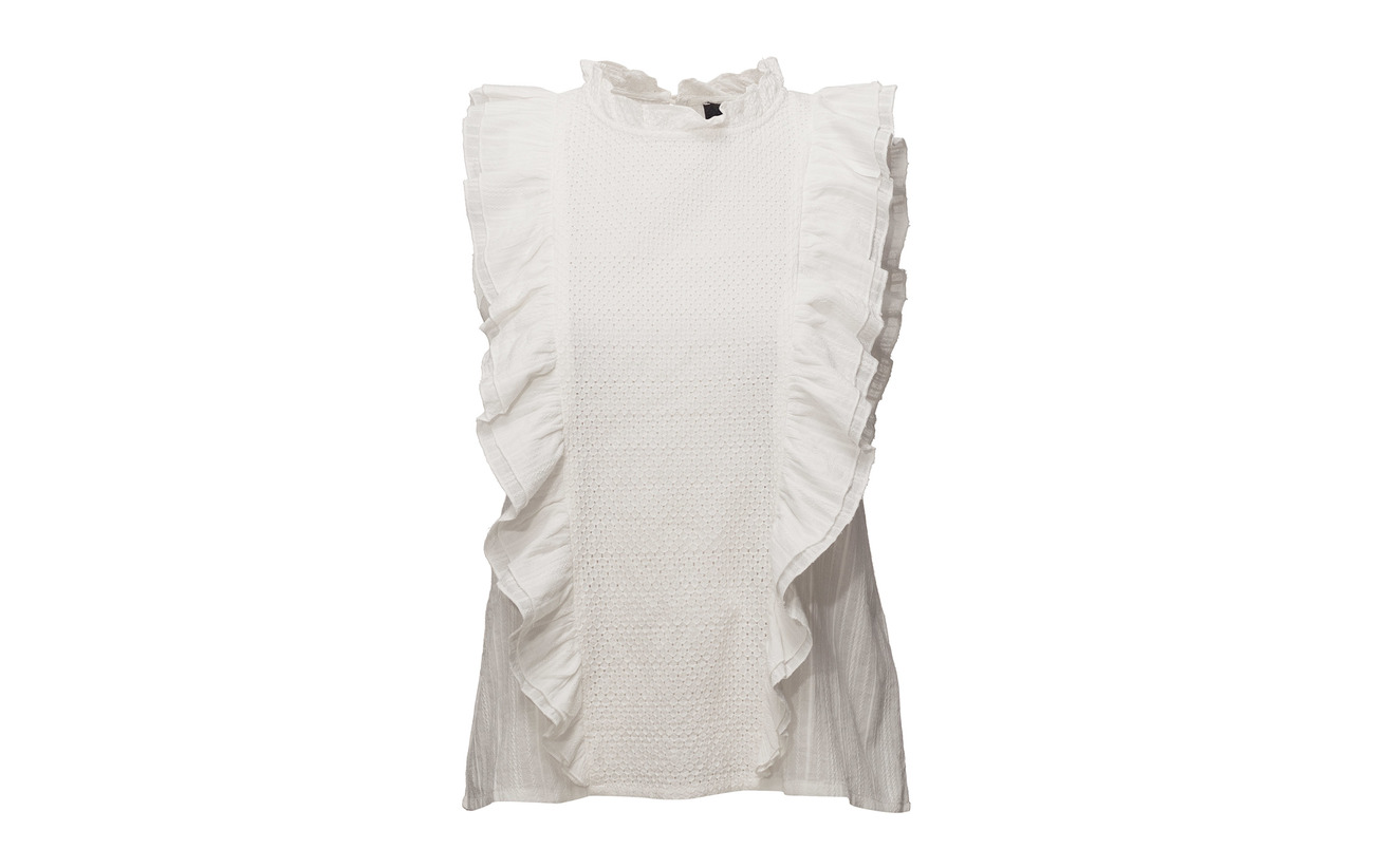 100 002 Rebels Off Annabell Blouse Soft White Coton 1Z6qYnw