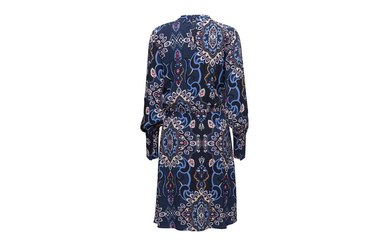 Soft Dress Crepe Viscose 100 Night Lucia Rebels Équipement Sky p1rpxvw6