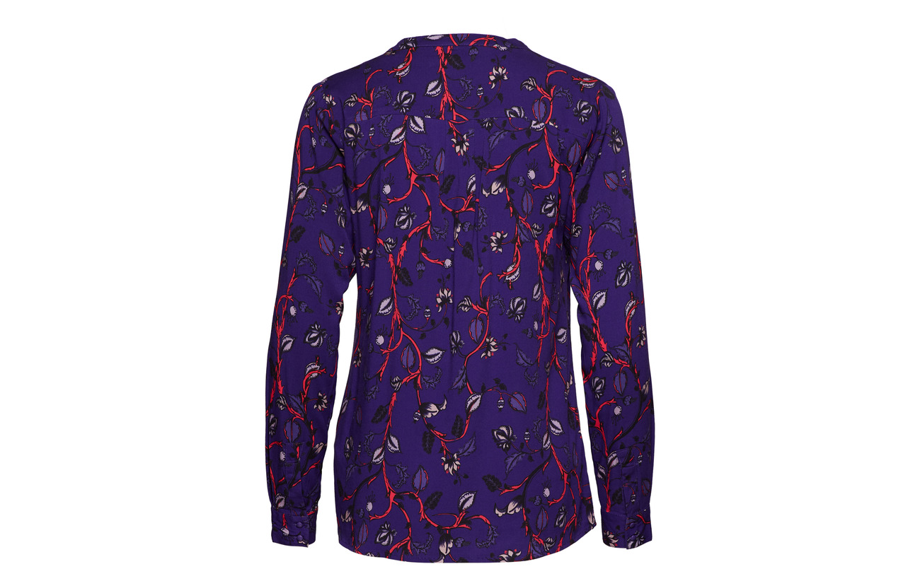 Purple 97 Button Viscose 794 Shirt 3 Soft Smila Print Elastane Rebels XCwqR7