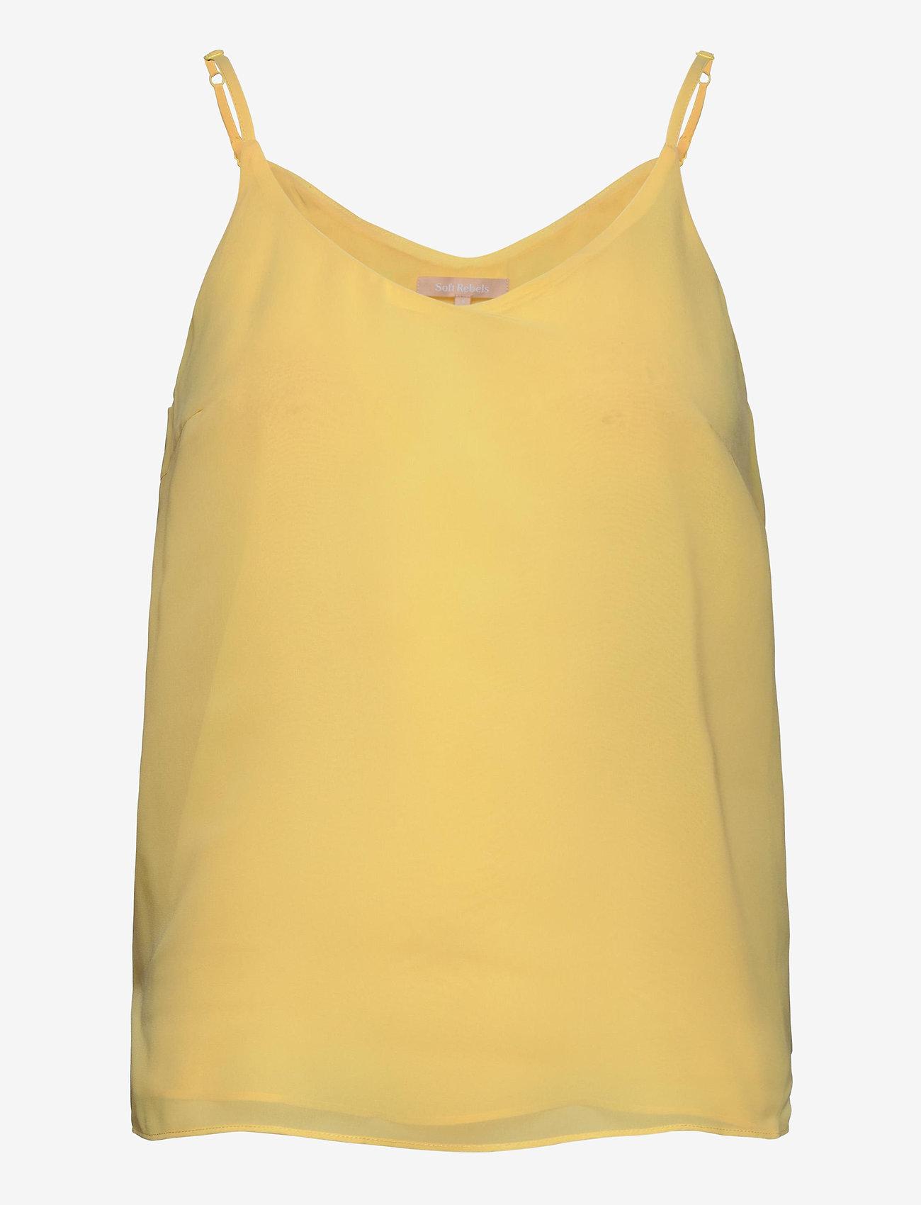 Soft Rebels - Frida Top - blouses zonder mouwen - rattan - 0