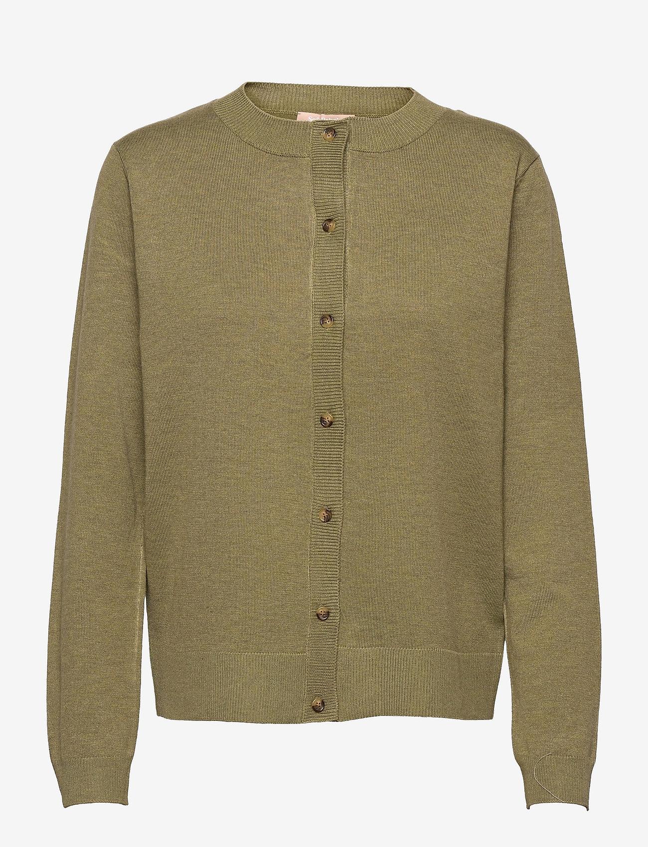 Soft Rebels - SRMarla New O-neck Cardigan - cardigans - olive drab melange - 0