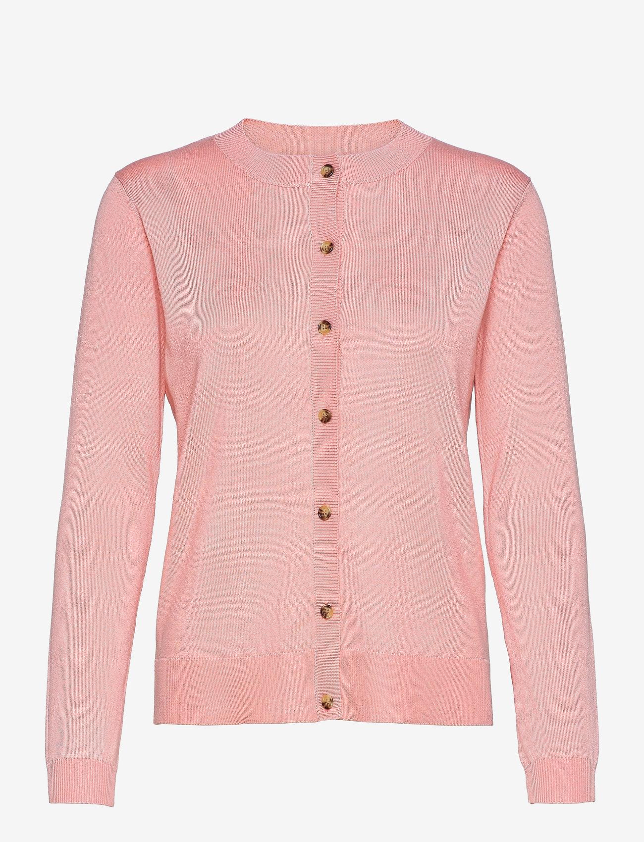 Soft Rebels - SRMarla New O-neck Cardigan - cardigans - quartz pink - 0