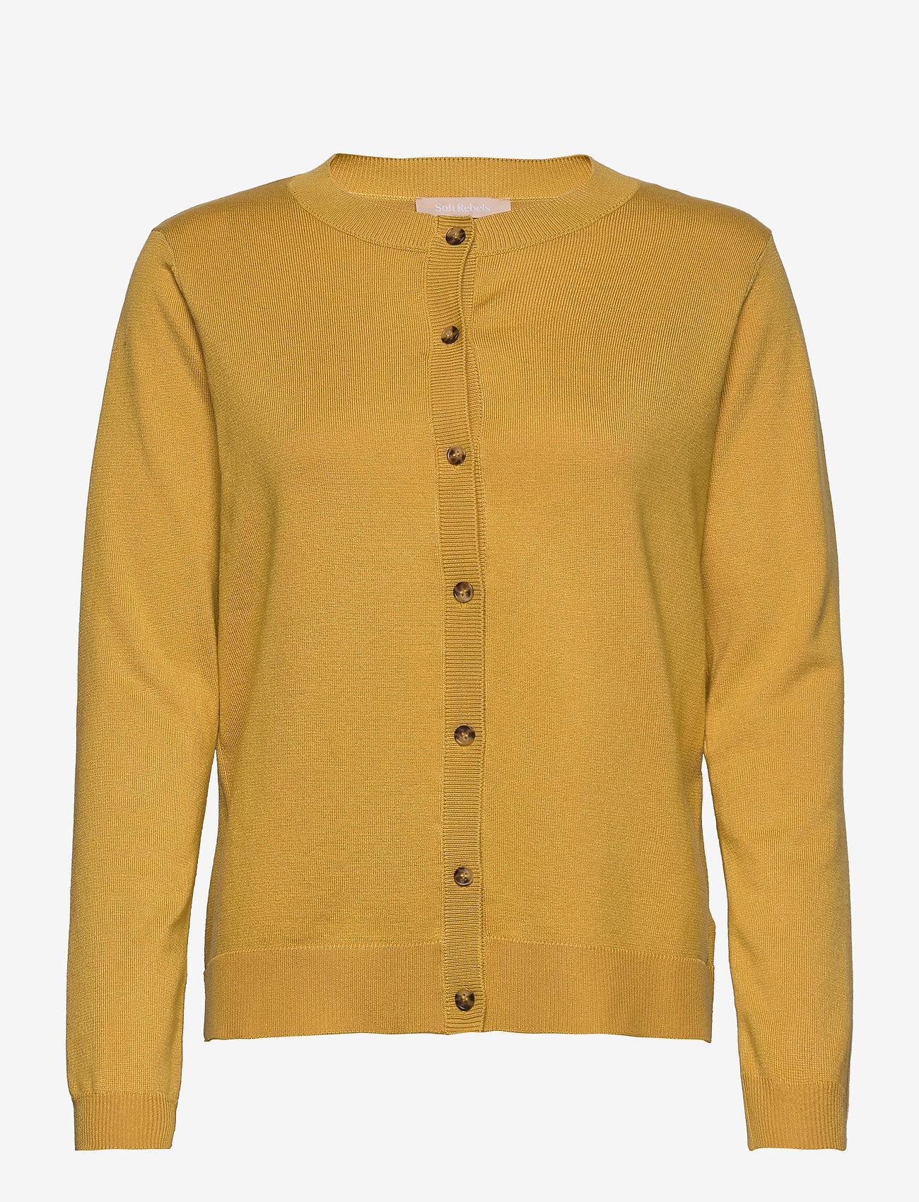 Soft Rebels - Zara New O-neck Cardigan - cardigans - rattan - 0