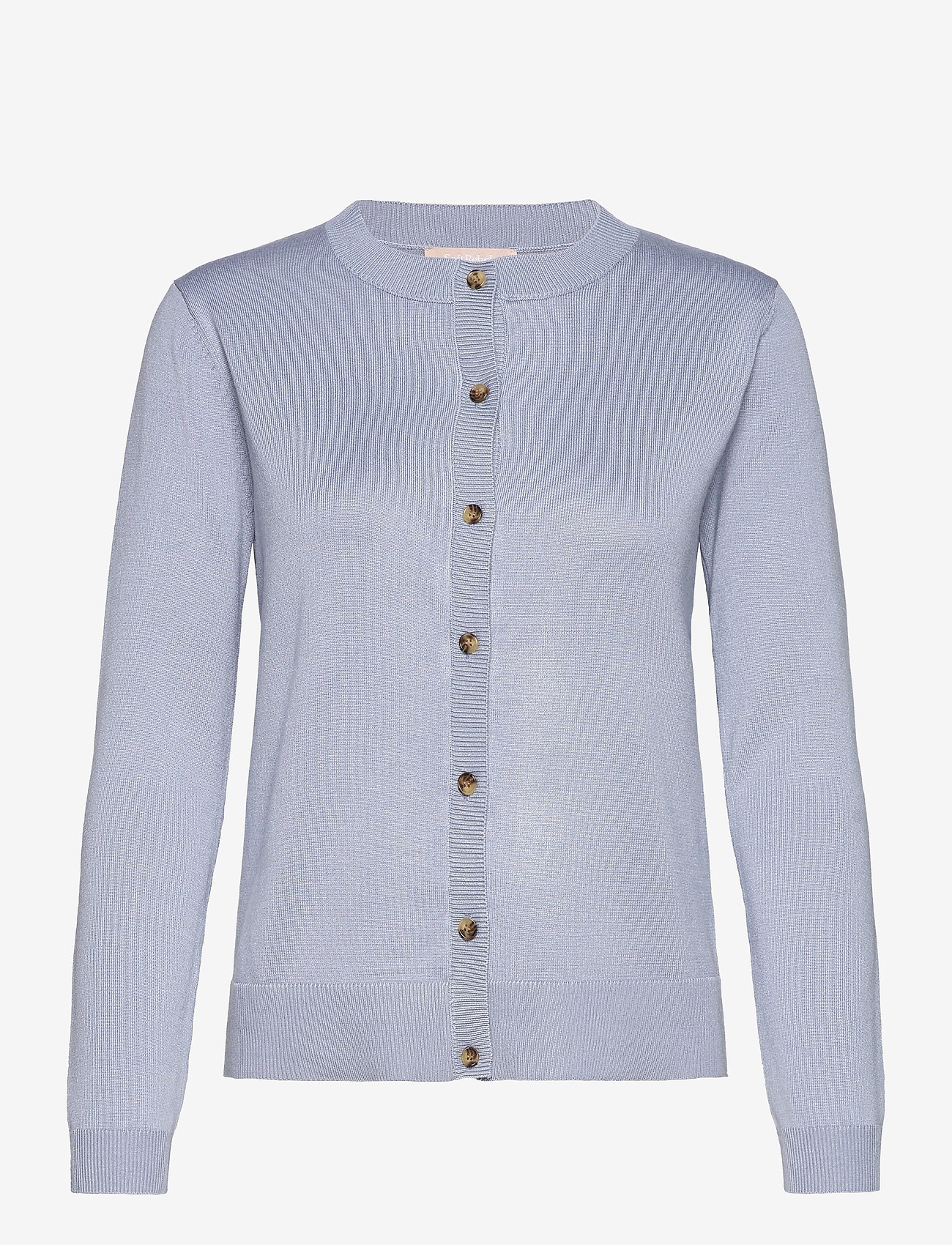 Soft Rebels - SRMarla New O-neck Cardigan - cardigans - zen blue - 0