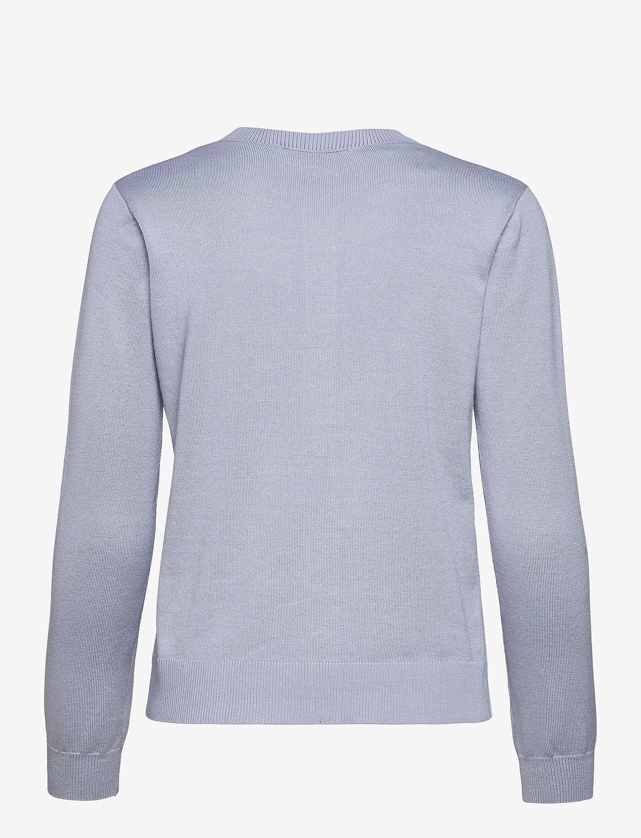 Soft Rebels - SRMarla New O-neck Cardigan - cardigans - zen blue - 1