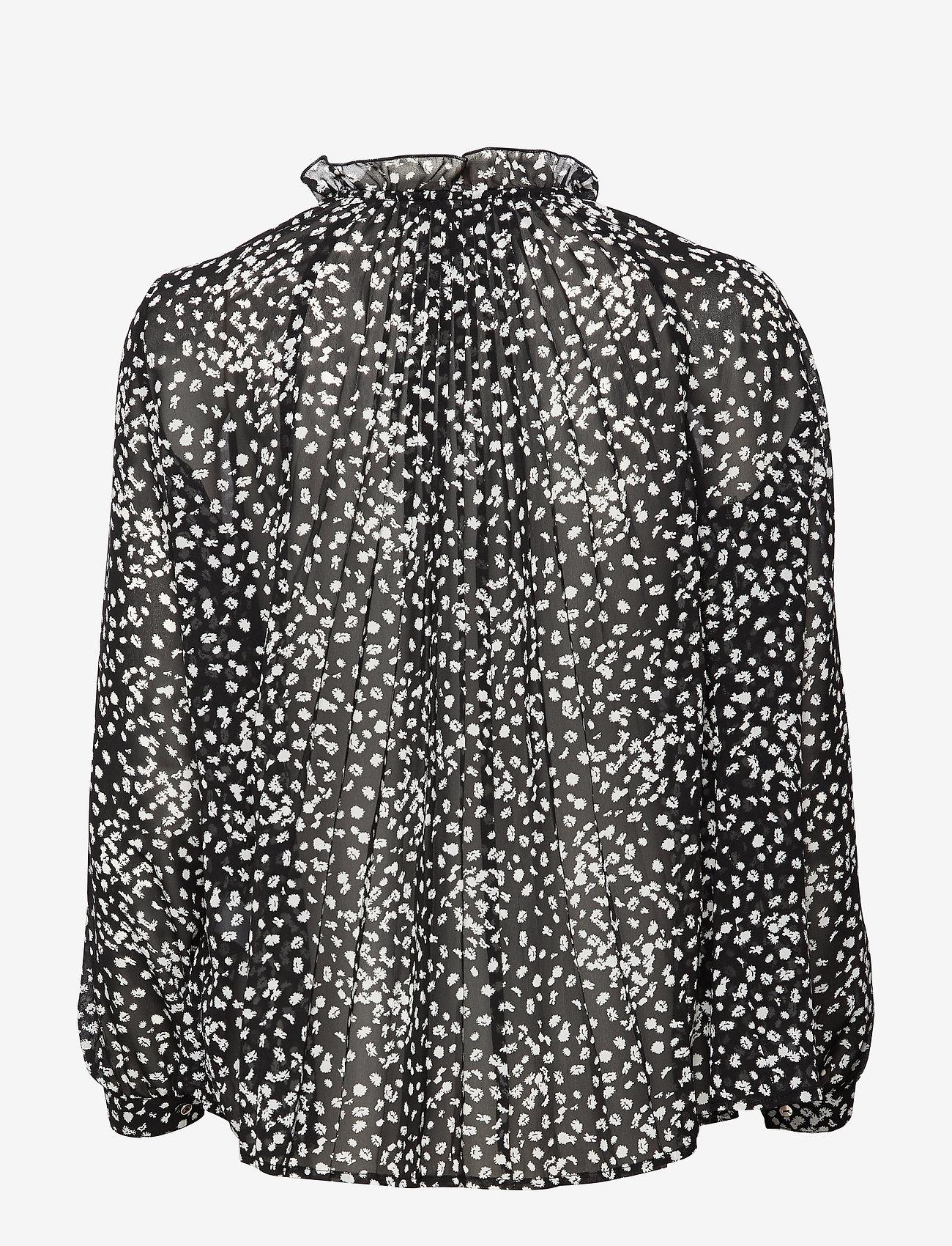 Soft Rebels - Sally LS Top print - long sleeved blouses - flora monocrome print - 1
