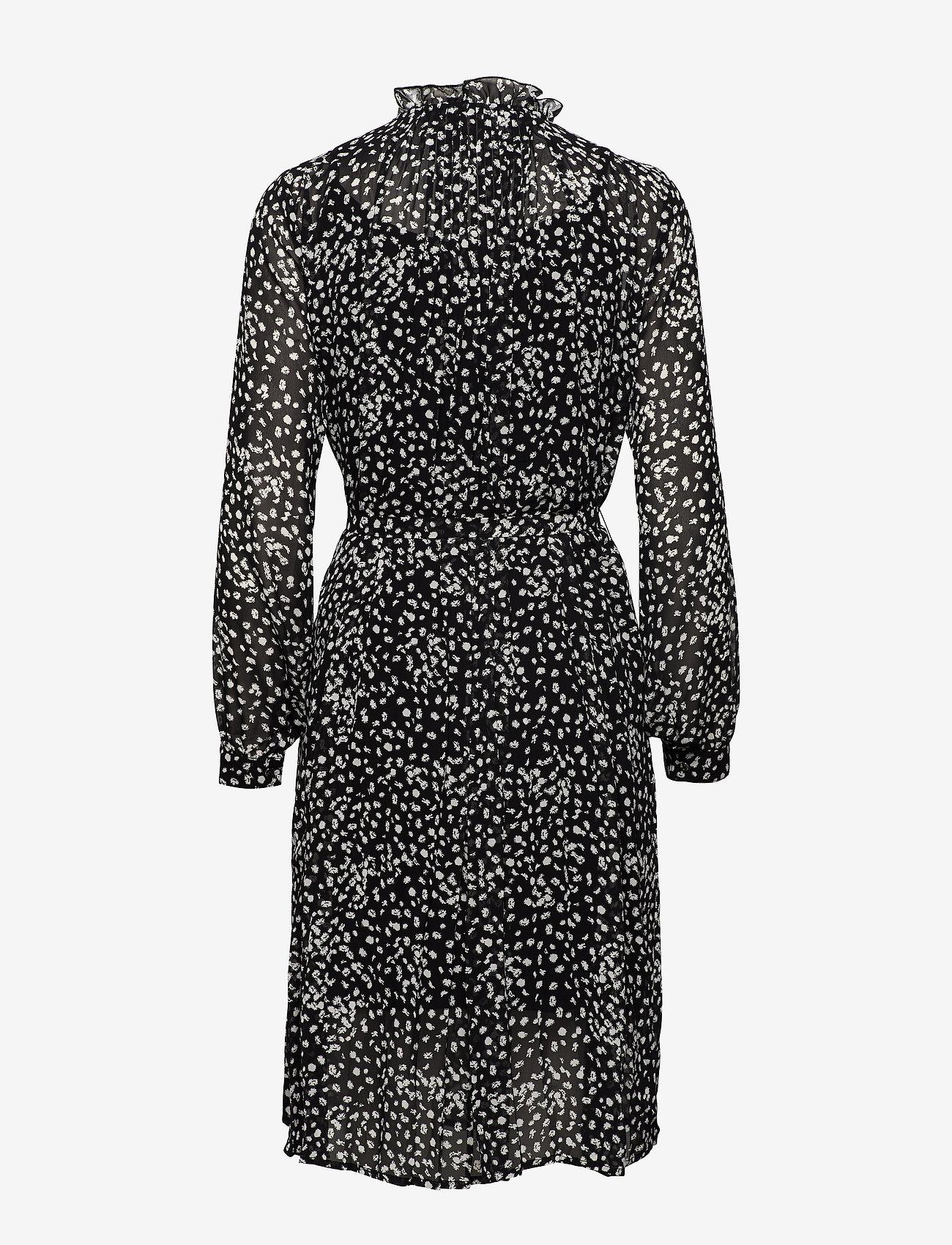 Soft Rebels Sally LS Dress print - Sukienki FLORA MONOCROME PRINT - Kobiety Odzież.