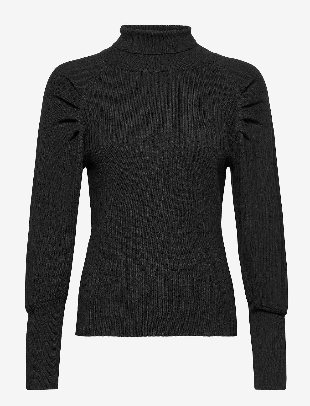 Soft Rebels - SRMarla LS Rollneck Slim Knit - turtlenecks - black - 1