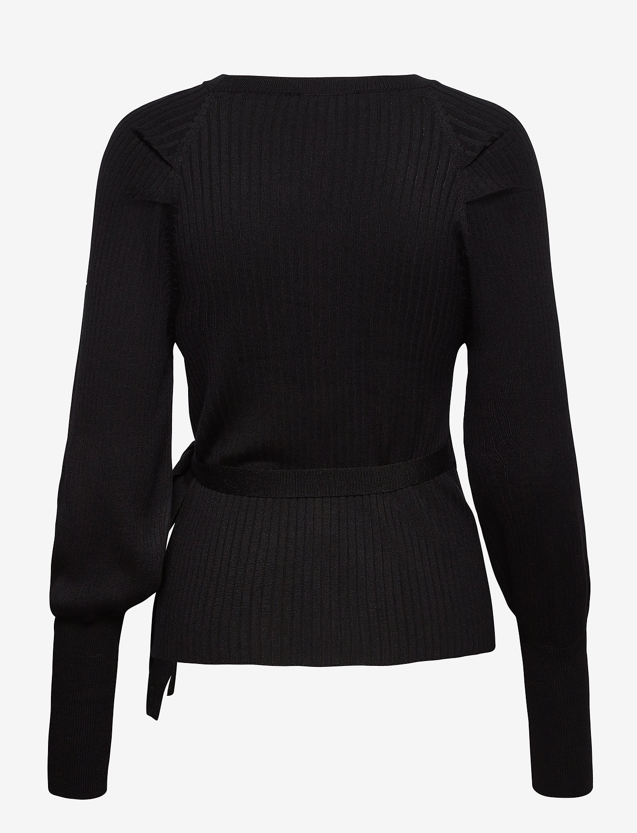 Soft Rebels - SRMarla LS Wrap Around Knit - cardigans - black - 1