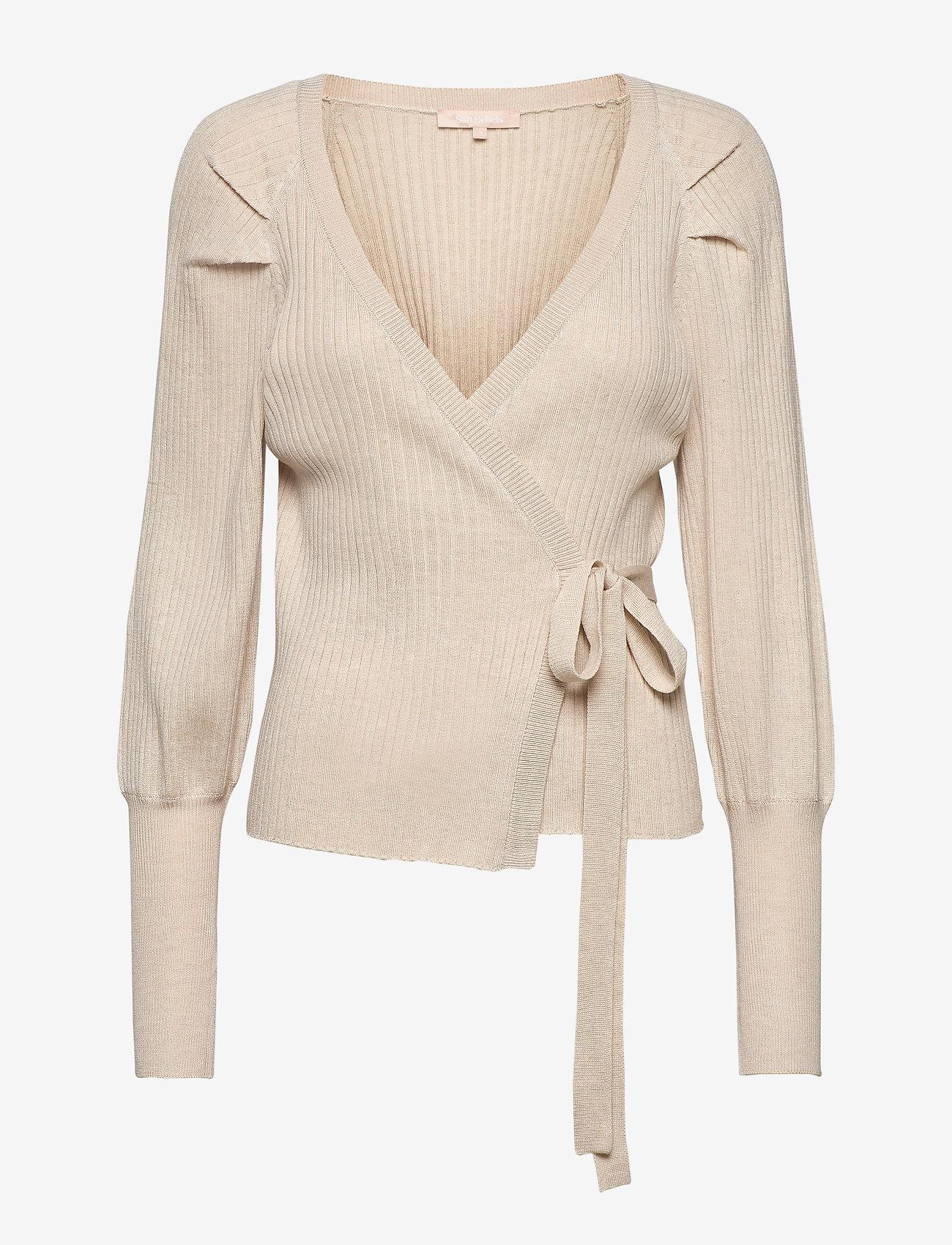 Soft Rebels - SRMarla LS Wrap Around Knit - cardigans - whitecap gray - 1