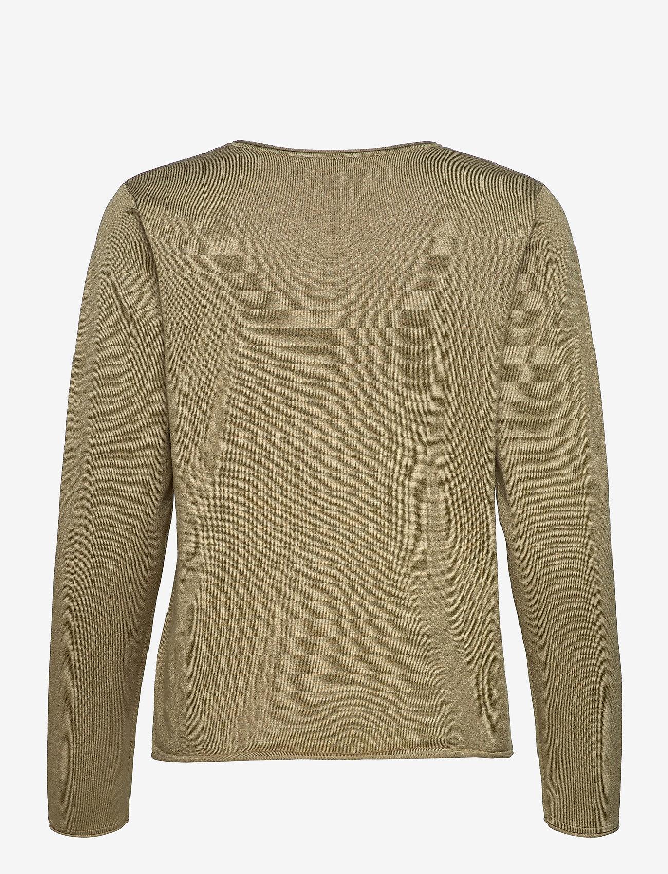 Soft Rebels - SRMarla O-Neck Roll Edge - sweaters - covert green - 1