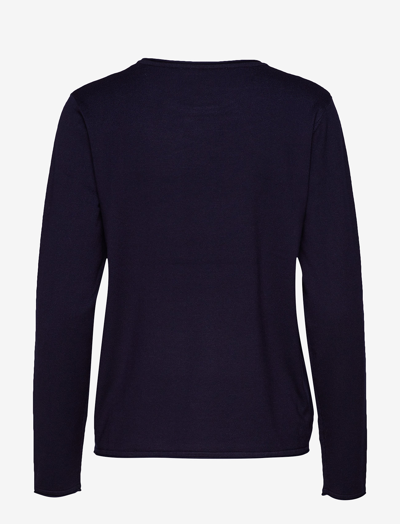 Soft Rebels - Zara O-neck Knit Roll Edge - jumpers - total eclipse - 1